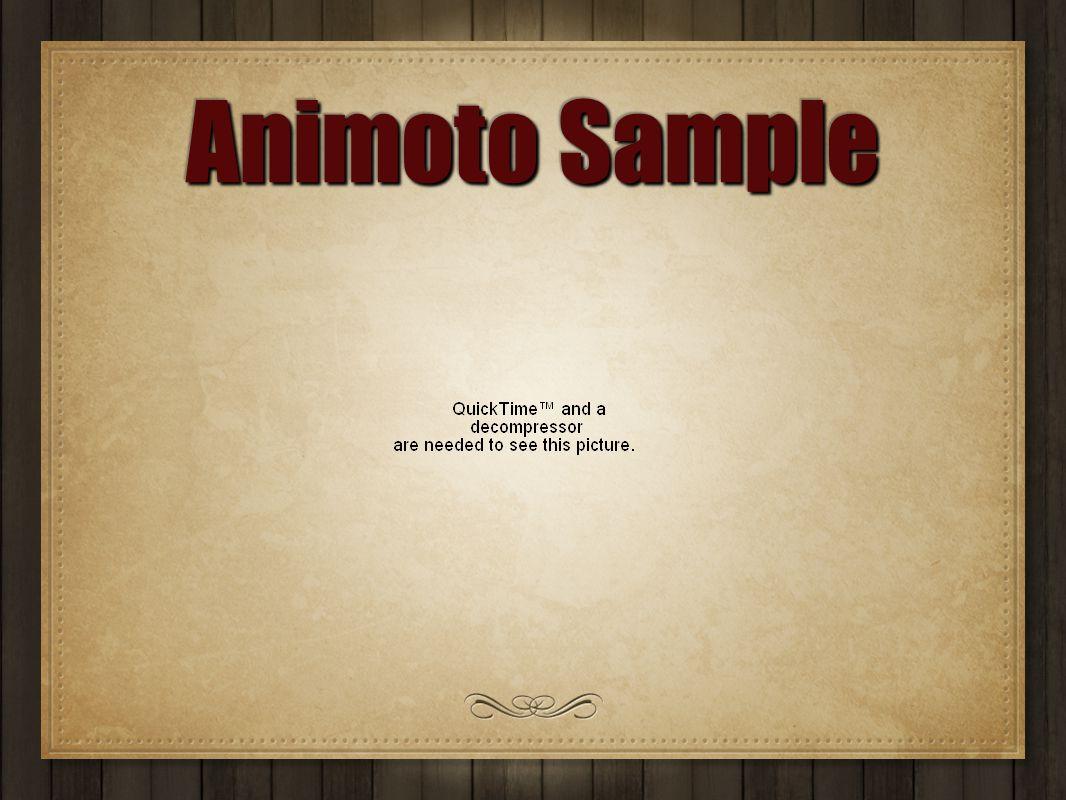Animoto Sample
