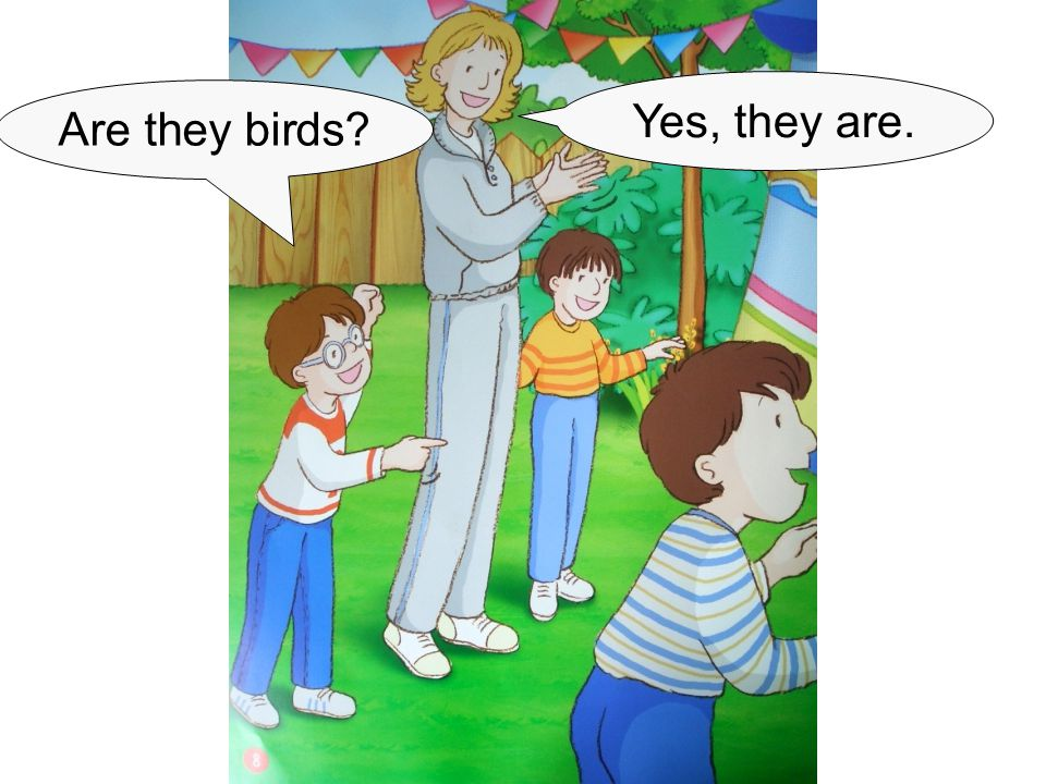 Are they birds? Yes, they are.