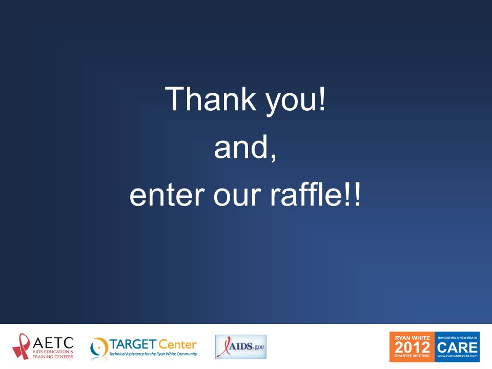 Thank you! and, enter our raffle!!