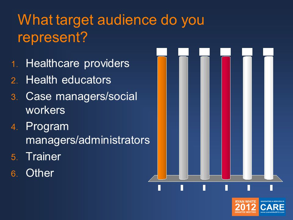 What target audience do you represent.