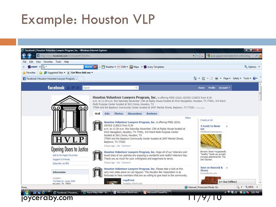 Example: Houston VLP 11/9/10joyceraby.com
