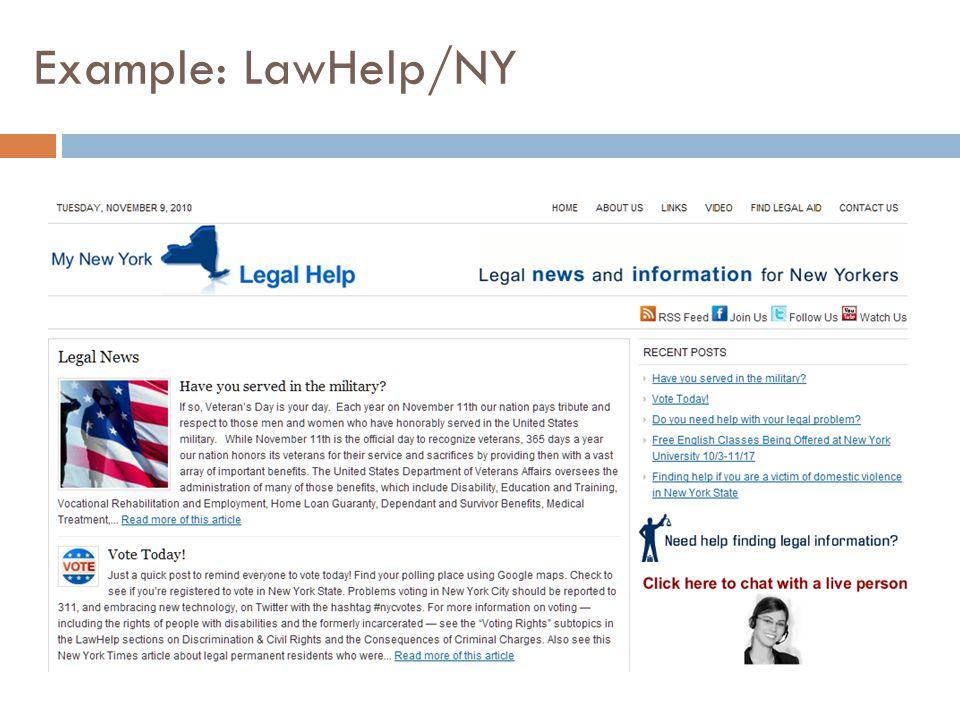 Example: LawHelp/NY