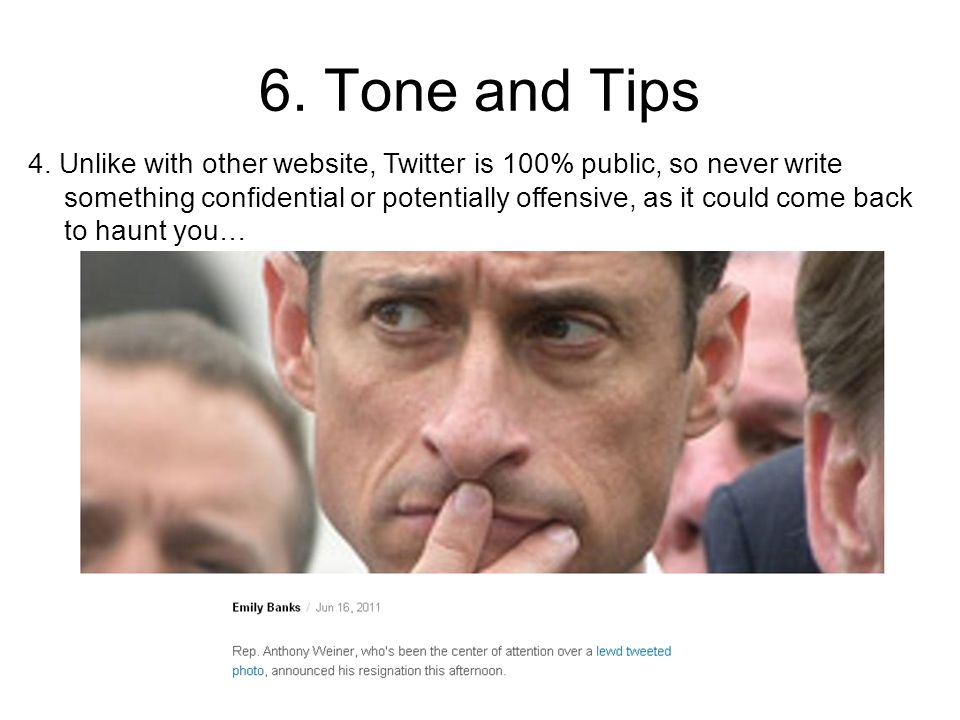 6. Tone and Tips 4.