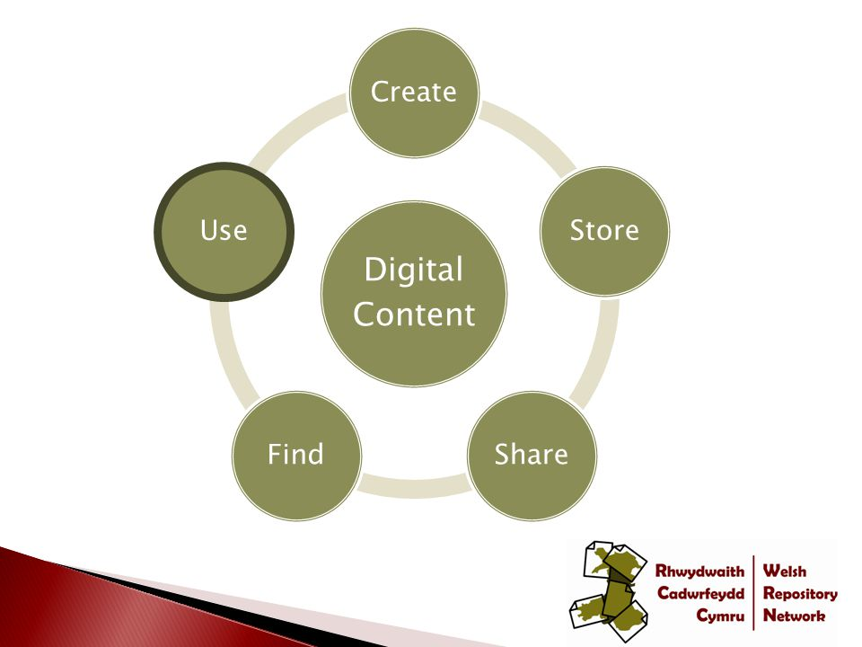 Digital Content CreateStoreShareFindUse