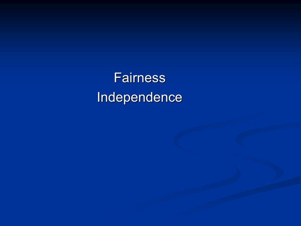FairnessIndependence