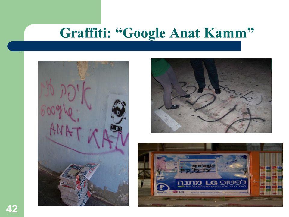42 Graffiti: Google Anat Kamm