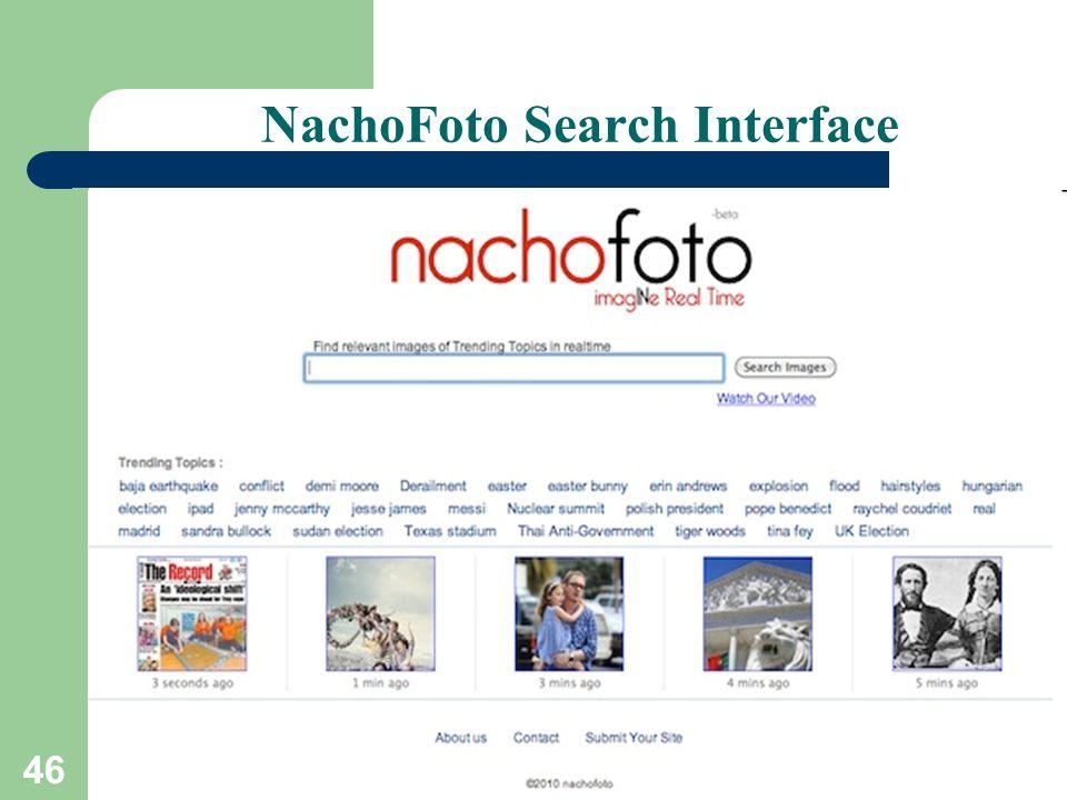 46 NachoFoto Search Interface