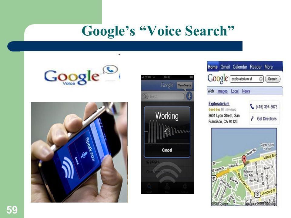 59 Google's Voice Search