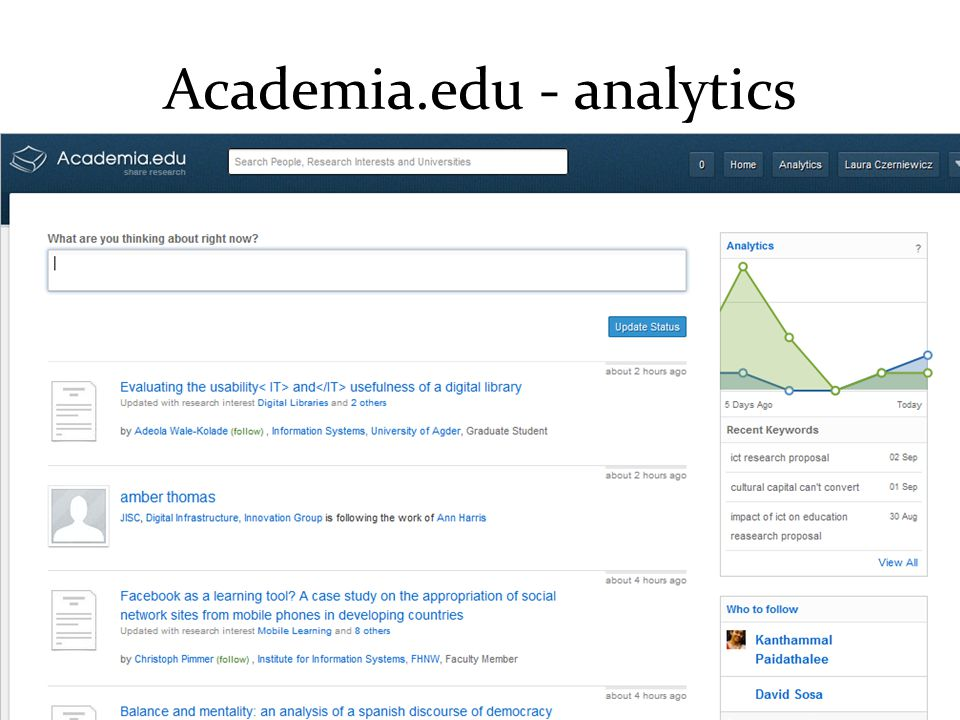 Academia.edu - analytics