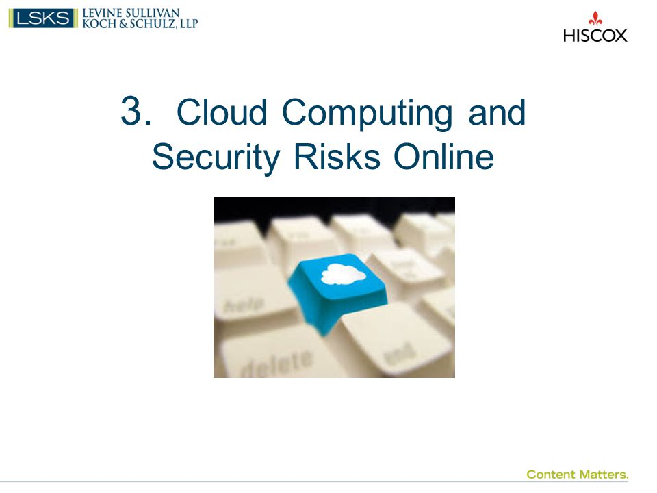 3. Cloud Computing and Security Risks Online