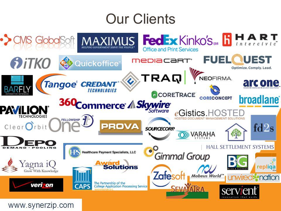 Our Clients www.synerzip.com
