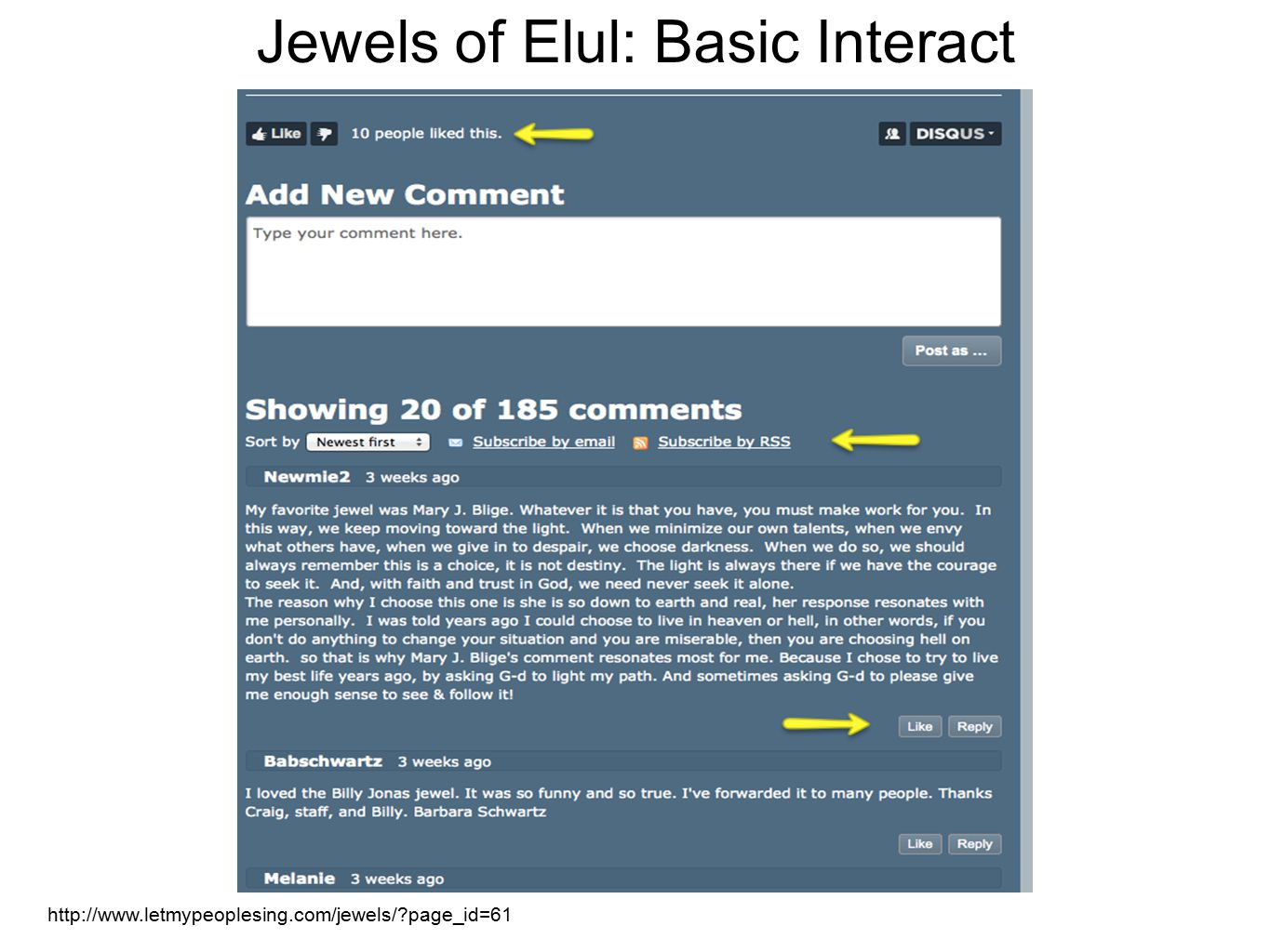 http://www.letmypeoplesing.com/jewels/ page_id=61 Jewels of Elul: Basic Interact