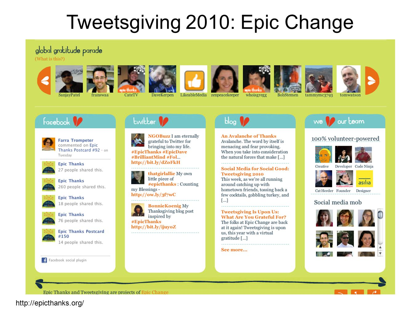 Tweetsgiving 2010: Epic Change http://epicthanks.org/