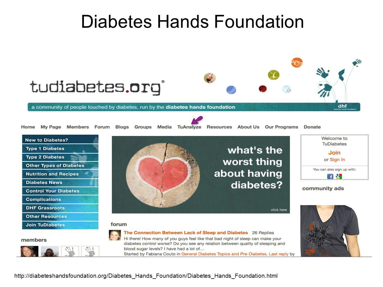 http://diabeteshandsfoundation.org/Diabetes_Hands_Foundation/Diabetes_Hands_Foundation.html Diabetes Hands Foundation