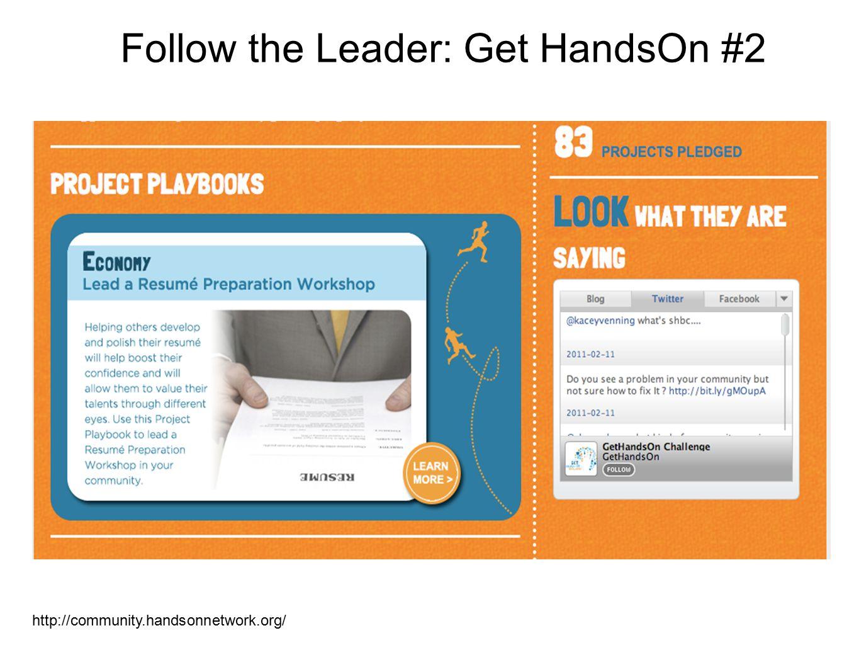 Follow the Leader: Get HandsOn #2