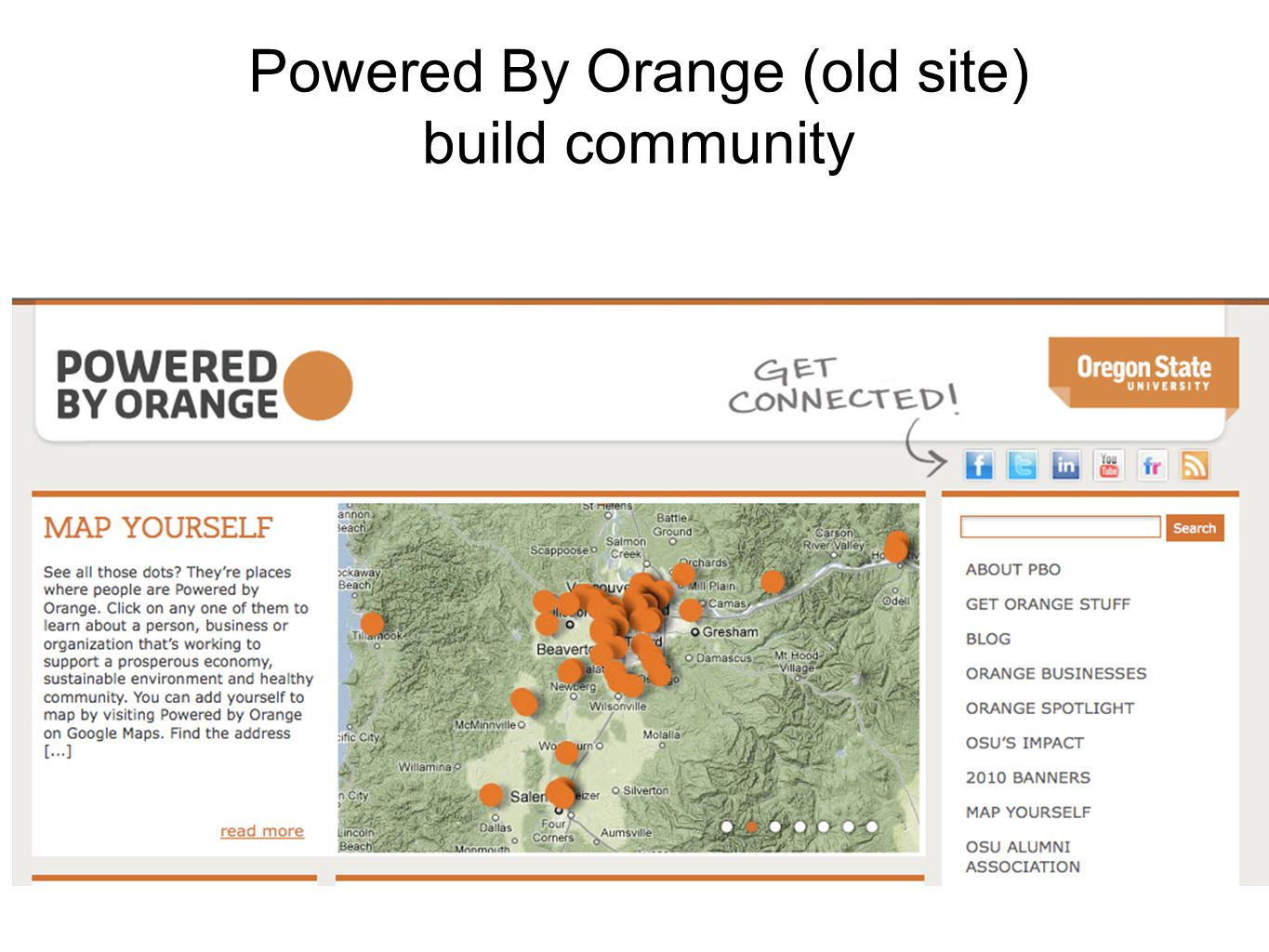 Powered By Orange (old site) build community