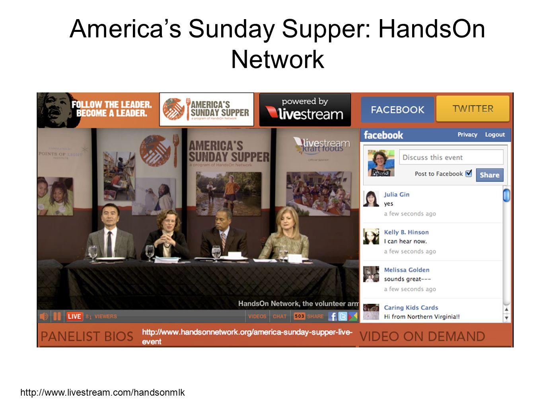 America's Sunday Supper: HandsOn Network http://www.livestream.com/handsonmlk