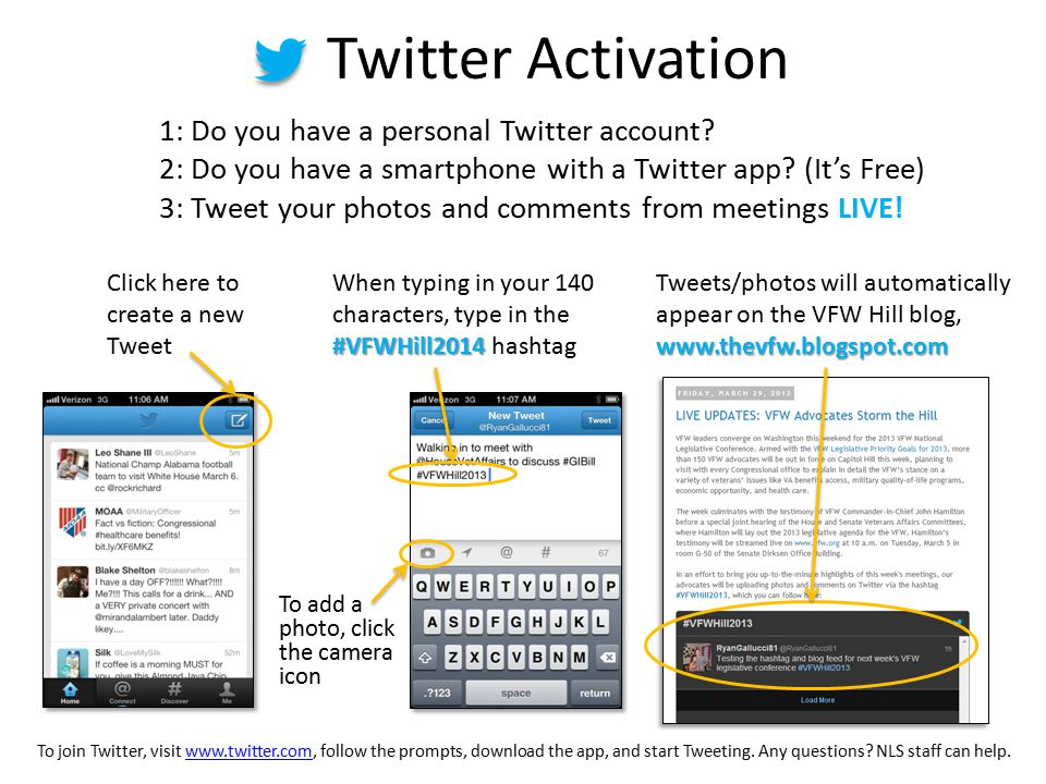 Twitter Activation 1: Do you have a personal Twitter account.