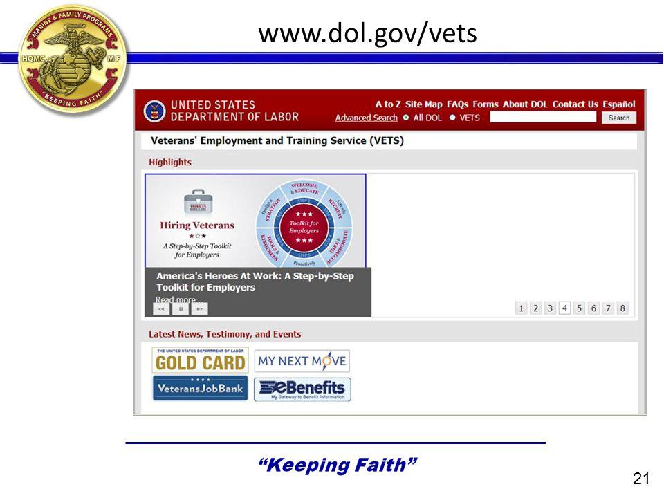 www.dol.gov/vets 21