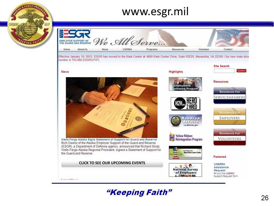 26 www.esgr.mil