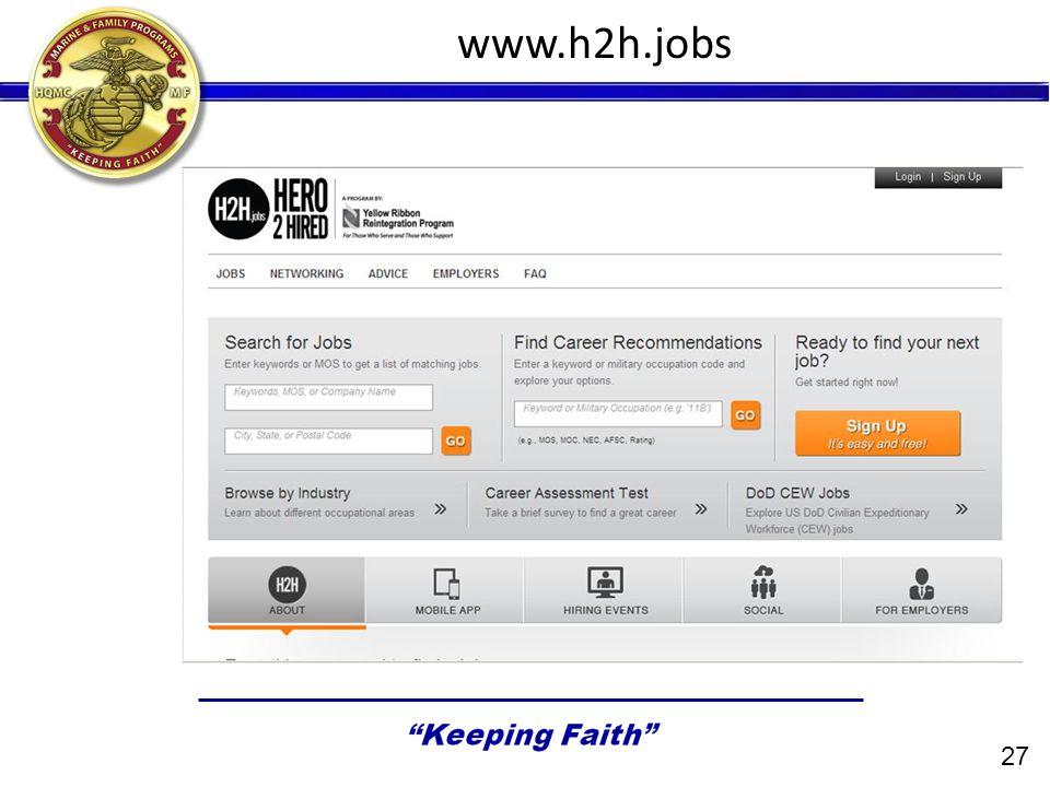 27 www.h2h.jobs