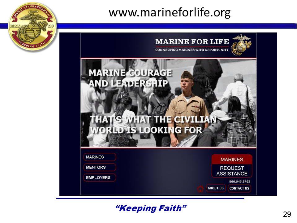 29 www.marineforlife.org
