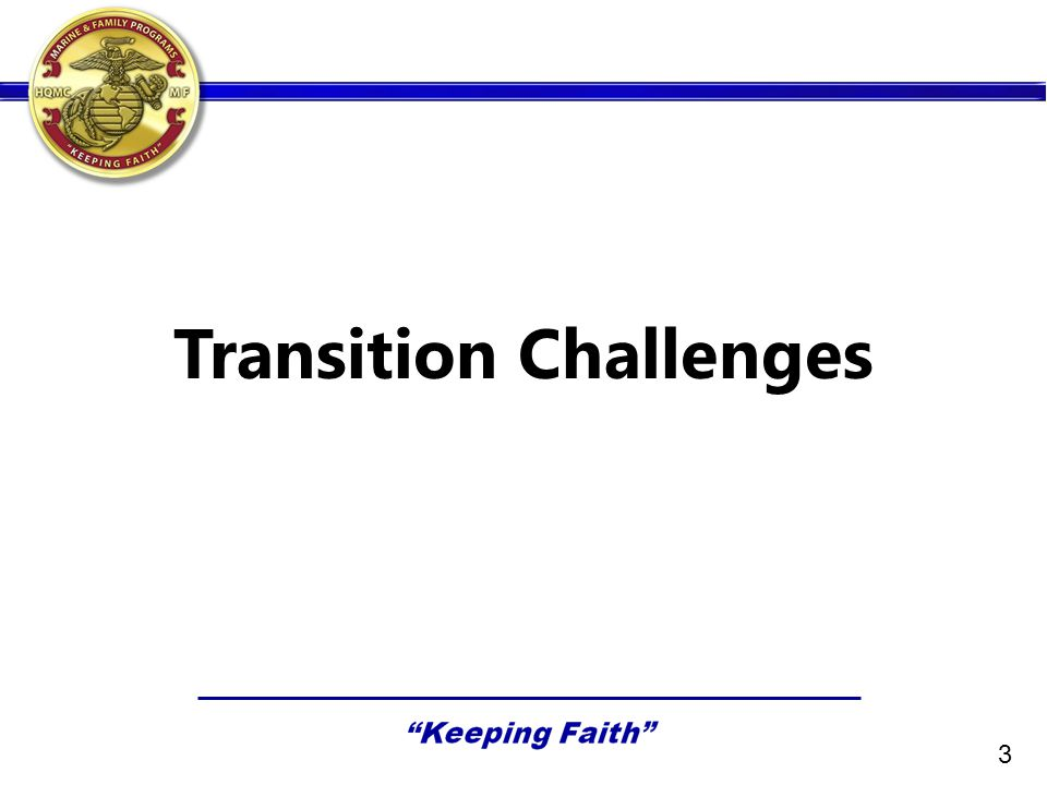 Transition Challenges 3