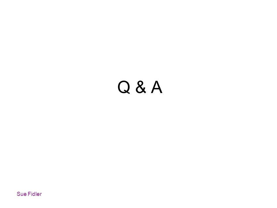 Q & A Sue Fidler