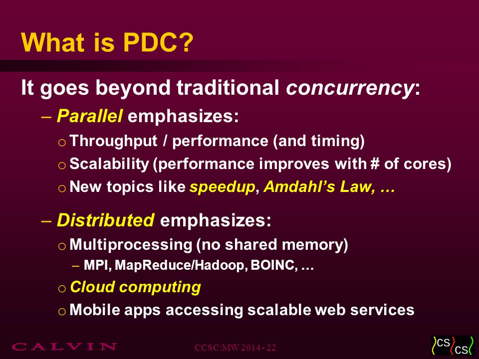 What is PDC.