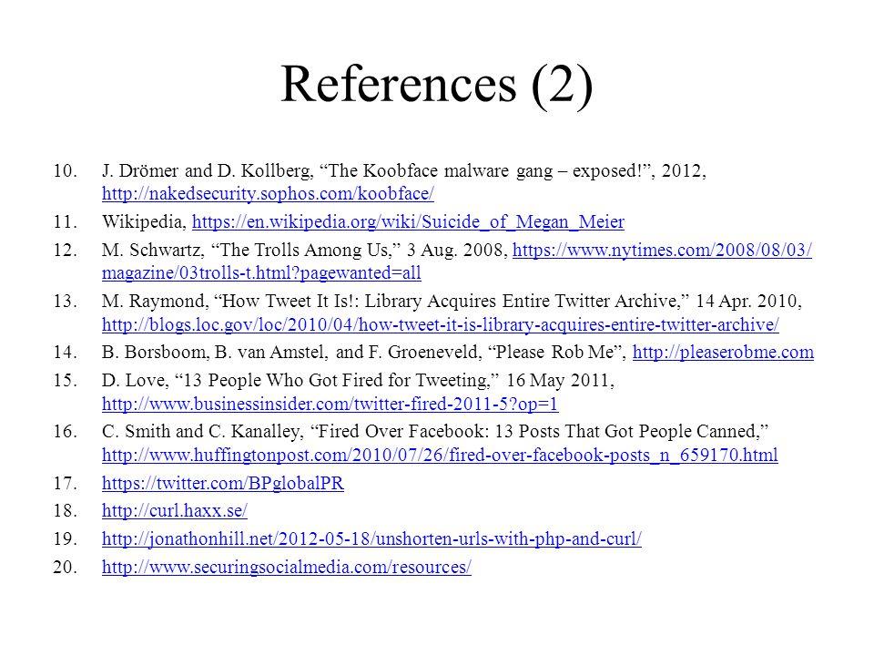 References (2) 10.J. Drömer and D.