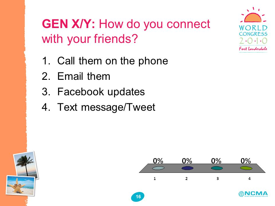 16 GEN X/Y: How do you connect with your friends.