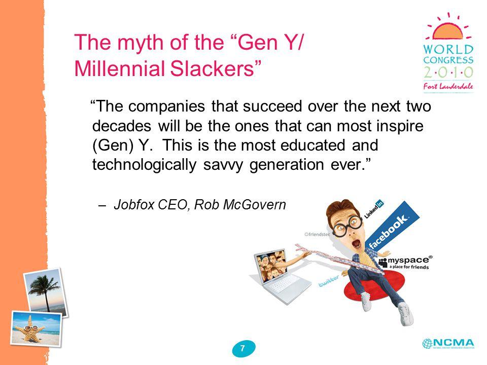 8 Which Generation Are You? 1.Boomer? 2.Gen X? 3.Gen Y/Millennial?