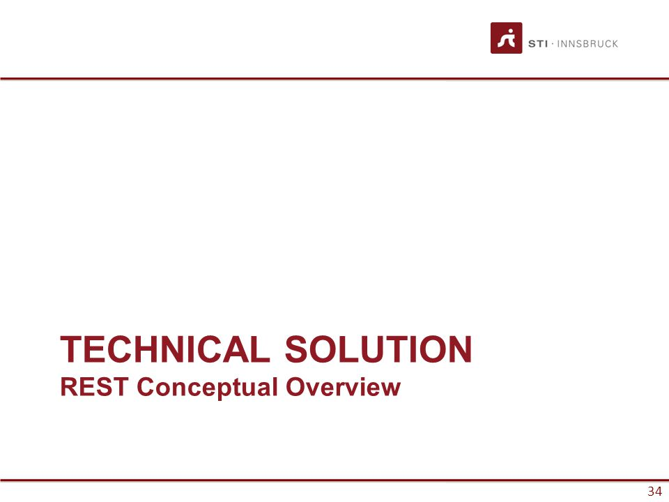 34 TECHNICAL SOLUTION REST Conceptual Overview