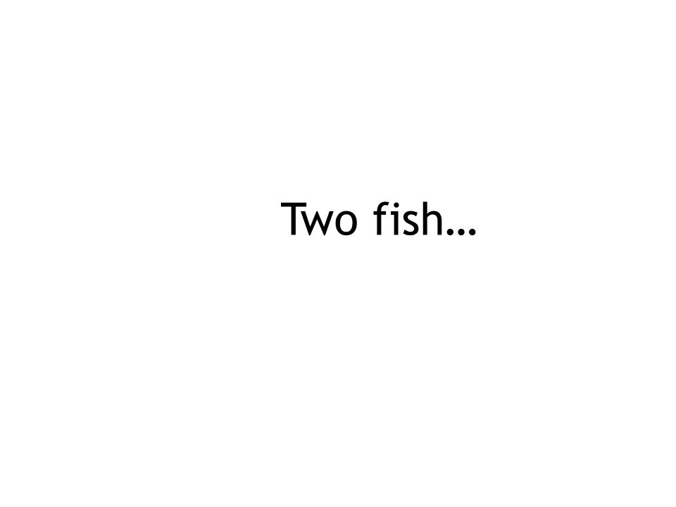 Two fish…