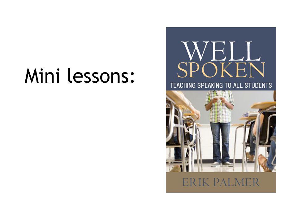 Mini lessons: