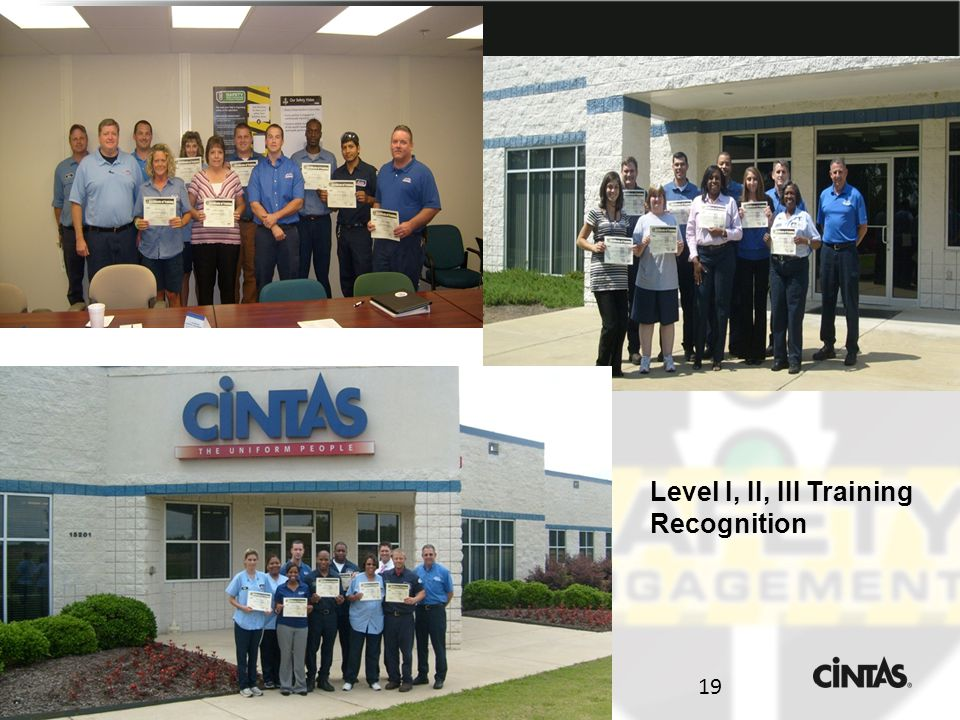 19 Level I, II, III Training Recognition