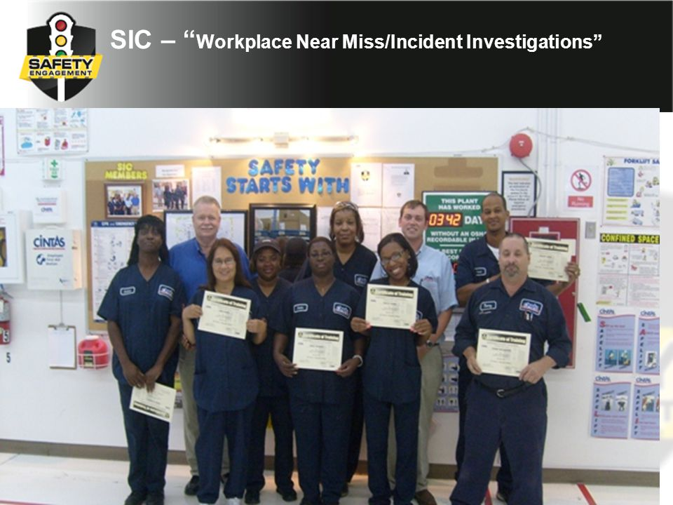 SIC – Workplace Near Miss/Incident Investigations