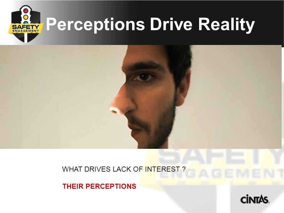 Perceptions Drive Reality WHAT DRIVES LACK OF INTEREST THEIR PERCEPTIONS