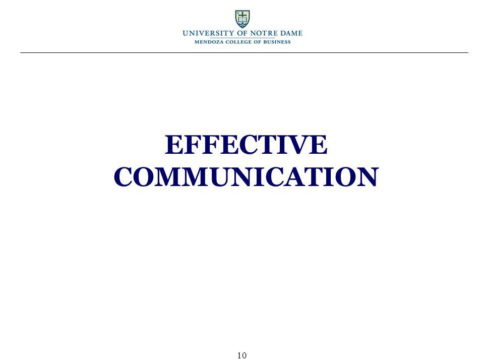 EFFECTIVE COMMUNICATION 10