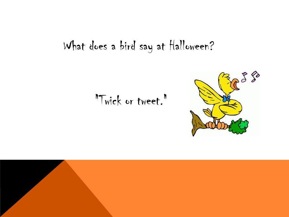 What does a bird say at Halloween?
