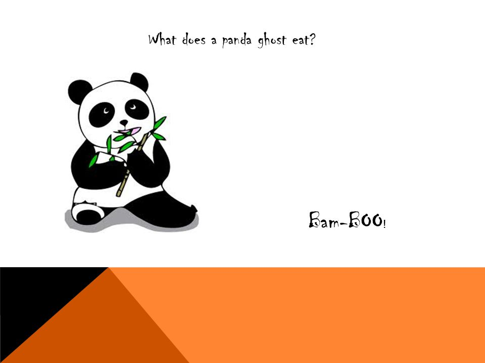 What does a panda ghost eat? Bam-BOO !