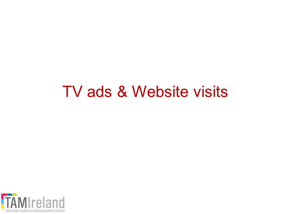 TV ads & Website visits