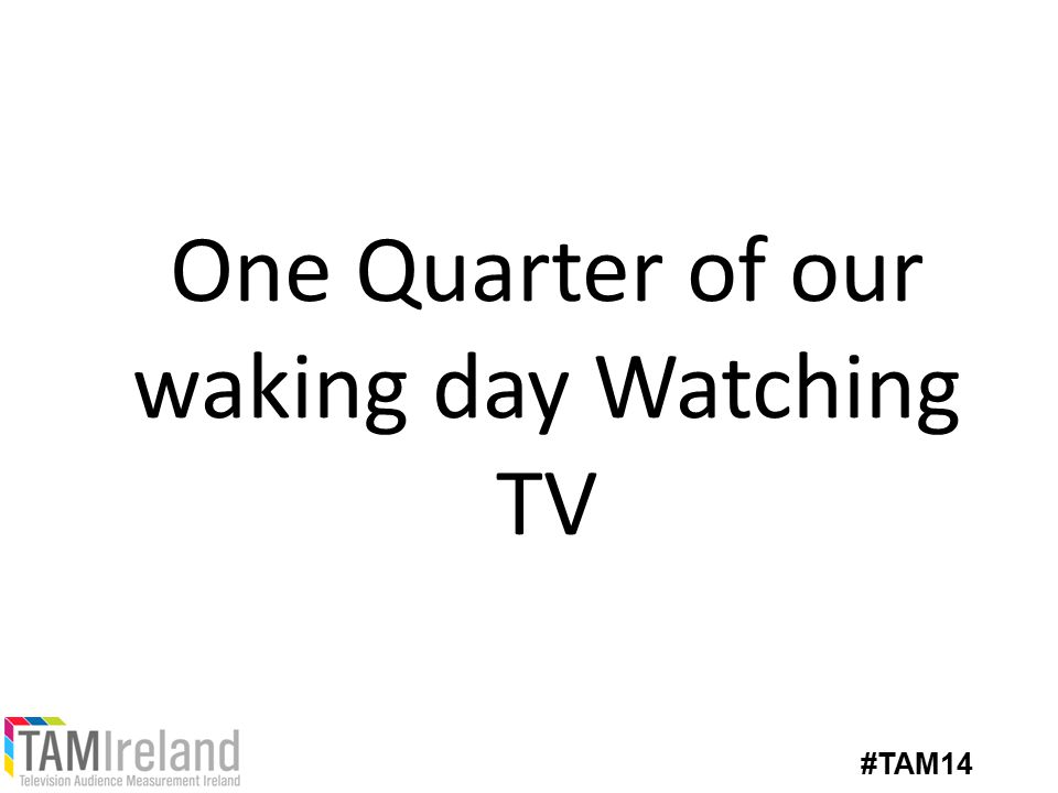 One Quarter of our waking day Watching TV #TAM14
