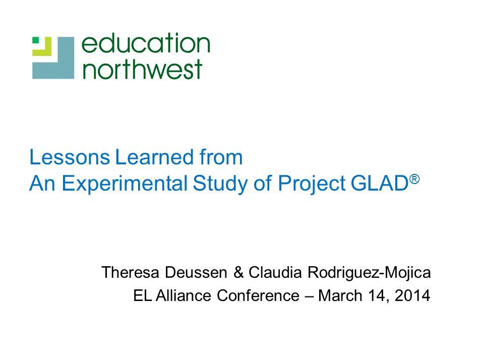 Do you tweet? @TLDeussen #ProjectGLAD #educationnw