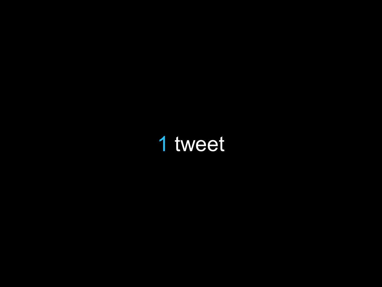 1 tweet