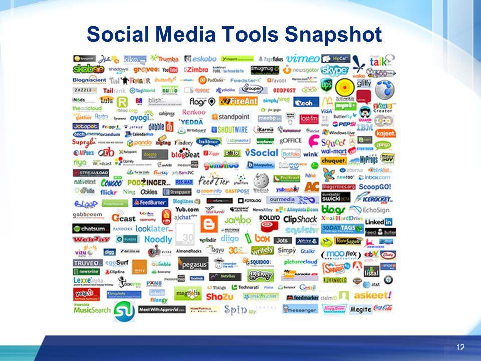 12 Social Media Tools Snapshot