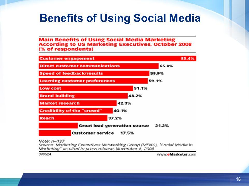 16 Benefits of Using Social Media