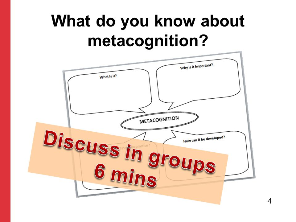 What do you know about metacognition? 4