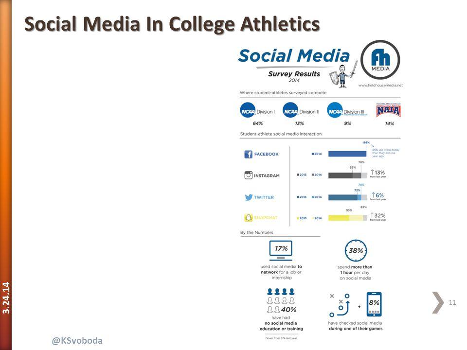 3.24.14 11 @KSvoboda Social Media In College Athletics
