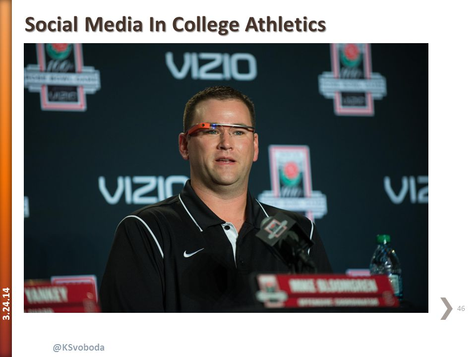 3.24.14 46 @KSvoboda Social Media In College Athletics